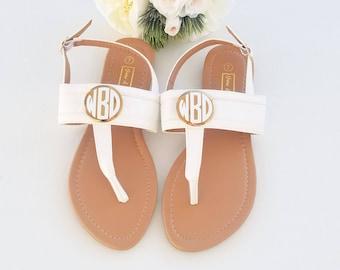 97a2b7a93c1082 Monogram sandals
