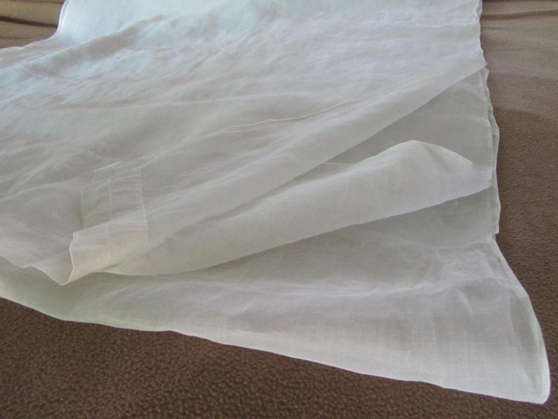 2-18-19 B vintage fabric 36 wide 5 12 yards white voile