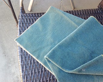 Vintage fabric, nubby upholstery samples from the 40s