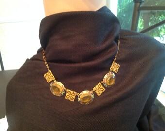 Vintage enameled necklace, circa 1920