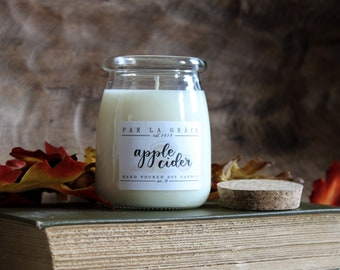 Apple Cider - No. 34, Hand Poured Soy Candle, Clean Burn