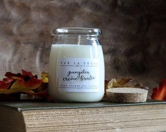 Pumpkin Crème Brûlée - No. 41, Hand Poured Soy Candle, Clean Burn