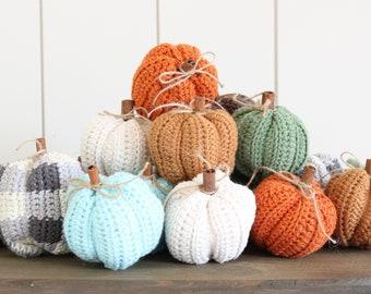 Crocheted Pumpkins, Handmade, Fall Decor, Pumpkin Spice, Home Decor