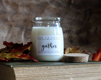 Gather - No. 39, Hand Poured Soy Candle, Clean Burn