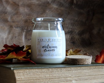 Autumn Leaves - No. 36, Hand Poured Soy Candle, Clean Burn