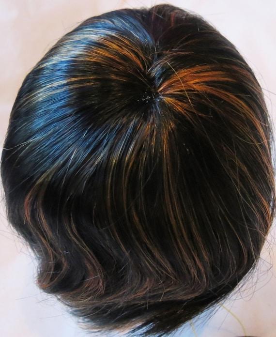 BUTTERCUP BJD Doll Wig Size 7-8 Off Black//Blue