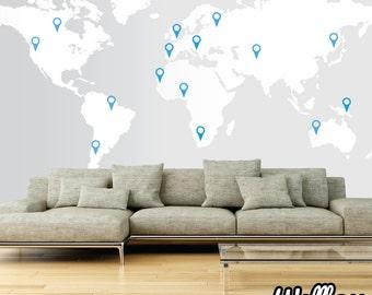 Big World Map Etsy