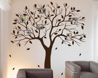 Exceptional Family Tree Wall Decal Family Photo Wall Sticker Branches