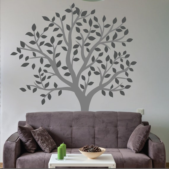 large tree wall sticker living room wall decal | etsy