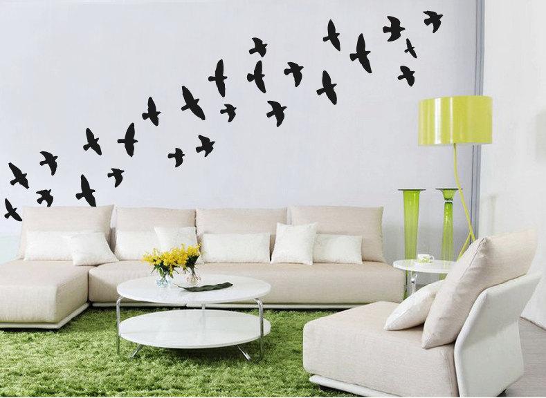 db90026dd7 Flock Of Flying Birds Wall Stickers Bird Wall Decal   Etsy