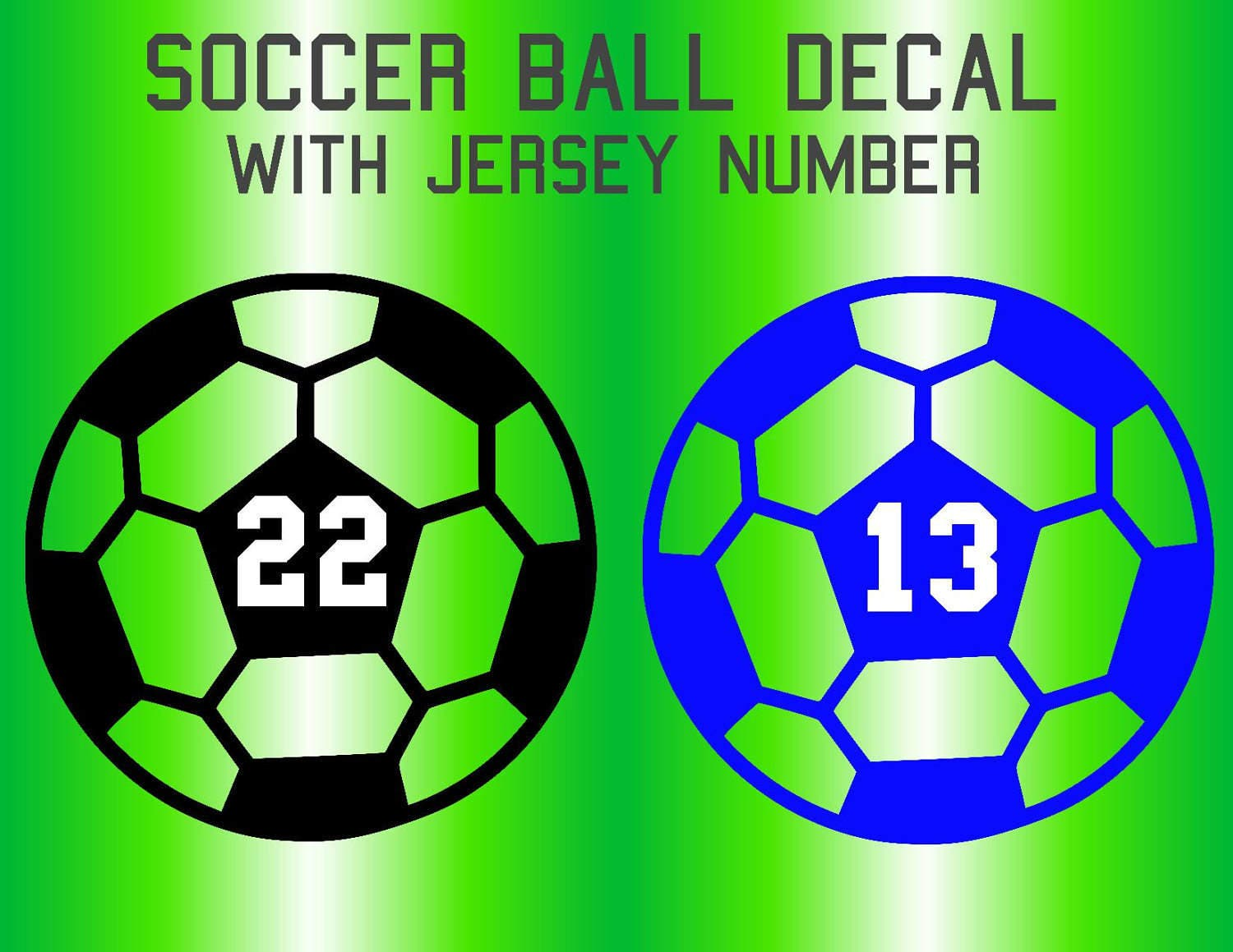 Personalized Soccer Ball Decal Soccer Ball Number Decal Etsy