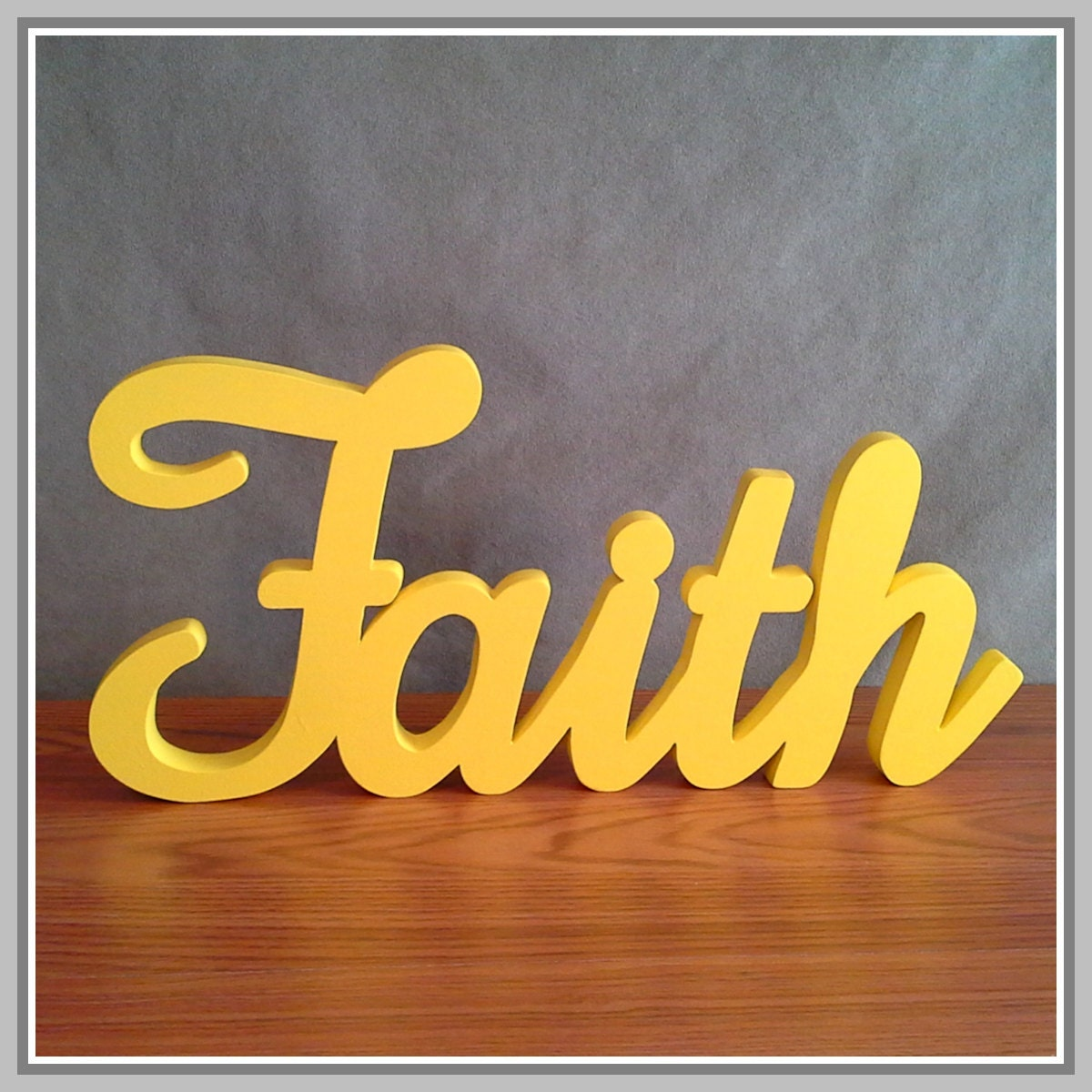 FAITH Inspirational Wooden Faith Sign stand-alone   Etsy