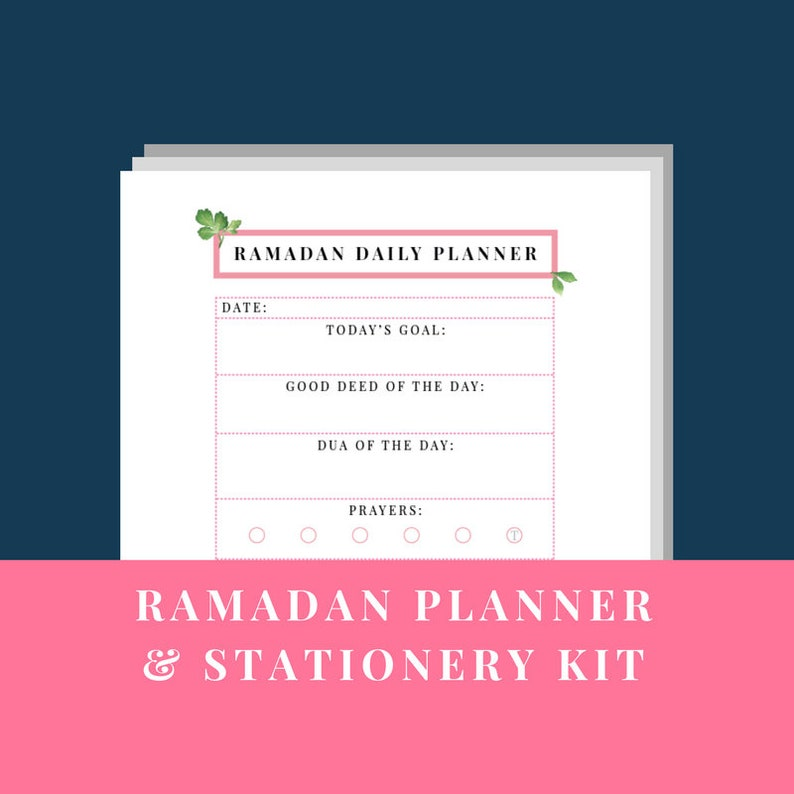 Ramadan Planner Stationery Kit 2019 Printable Digital Etsy