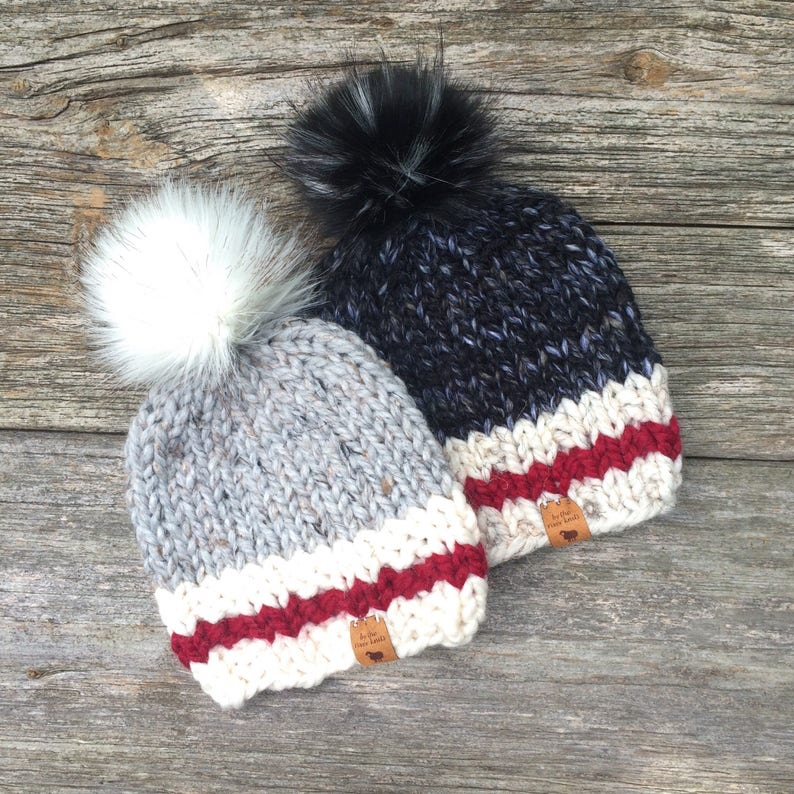 65412f058 Cozy Cabin Knit Toque Beanie Hat Made in Canada Roots Inspired~ Toddler and  Youth Size