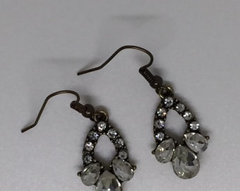 Sparkly brass dangly earrings