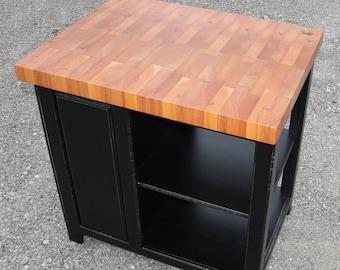 Kitchen Island with mahogany butcher block top