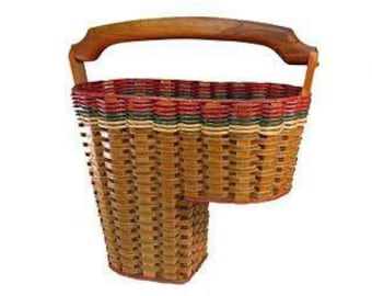 Stair Step Basket solid Mahogany wood by Foxcreek Baskets