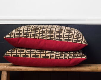 Vintage African Mudcloth Pillow Set 2