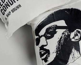 H. Rap Brown Pillow 100% cotton, double-sided
