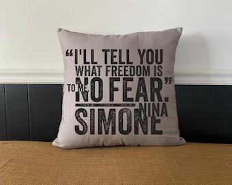 Nina Simone Double-Sided Pillows
