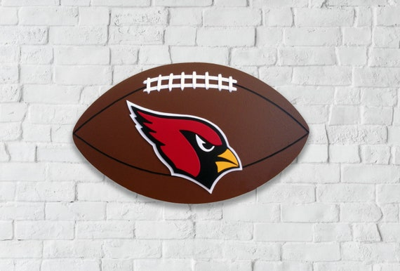 Arizona Cardinals Wooden Football Sign 3d Wall Art Home Decor Man Cave Game Room Garage Gift For Husband Gift For Boyfriend