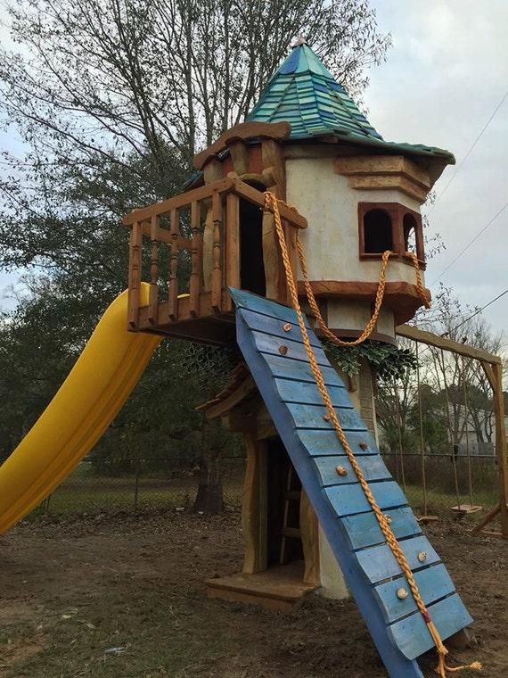 Rapunzel S Castle Tree House Etsy