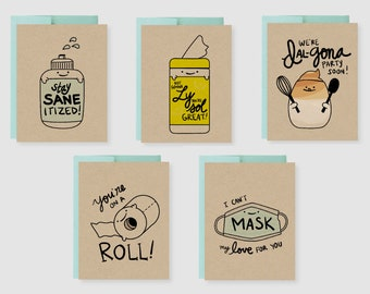 COVID Punny Card Bundle (Pack of 5)