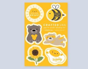 Mellow Yellow Vinyl Sticker Sheet