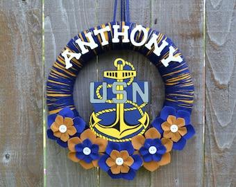 Navy Door Hanger Etsy