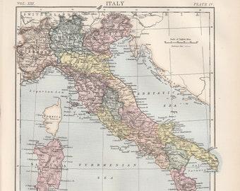 Corsica map   Etsy