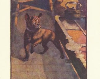 French Bulldog by Vernon Stokes 1906 colour dog print Wall Art Home Decor Vintage Print