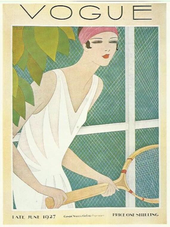 Portada De La Revista Vogue 1927 Por Harriet Meserole Lady Etsy