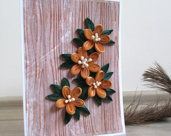 3D Flower Quilling Card, Birthday Card, Flower Birthday Card, Greeting Card, Wedding Card, Mother's day Card, Anniversary Card