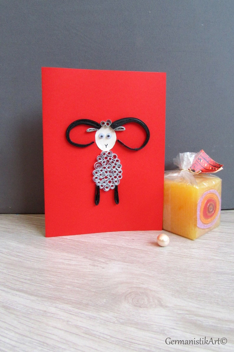 Quilled Paper Art Paper Quilling Ram Zodiac Sign Astrology Gift Aries Zodiac Birthday Card