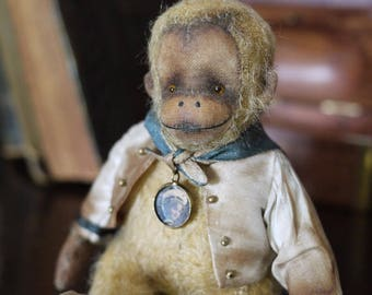 "Kit to create 5""- 5.5"" Miniature Monkey Phoebe Including Dress or Jacket"