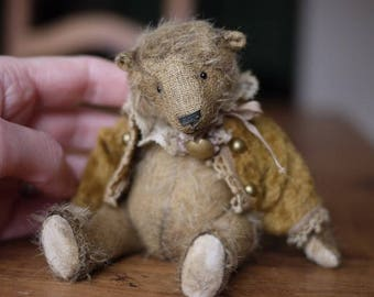 "Kit to create Miniature Traditional Style 5.5""-6"" Teddy Bear Hamish including Jacket"