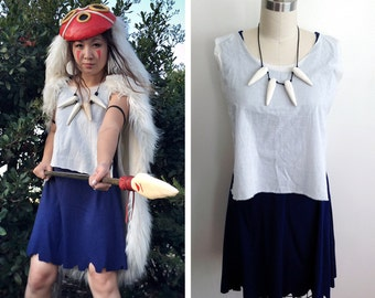 Princess Mononoke San Dress and Shirt set Cosplay Costume only Custom Made Handmade  sc 1 st  Etsy & Princess mononoke costume   Etsy