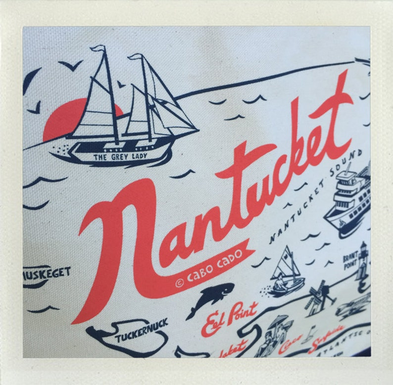 Nantucket Beach Tote \u2022 Red /& Navy