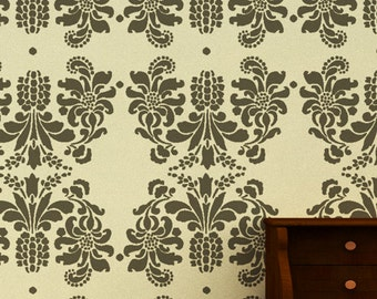 Large Wall stencil ideas,reusable damask Stencil - DIY home decor, DS-02