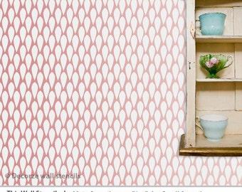 Geometric wall stencil for wall, Reusable wall stencil pattern stencil, Homemade stencils
