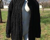 1960 39 s vintage Lamb Fur Leather stroller vintage 60 39 s lamb fur coat vintage 60 39 s black Lamb and Leather coat- m