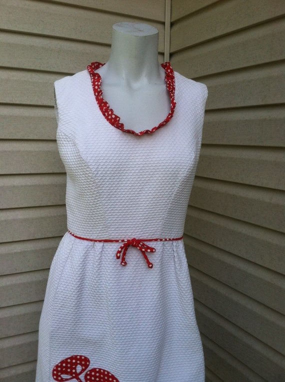 1960's vintage dress red and white mushroom/1960'… - image 3
