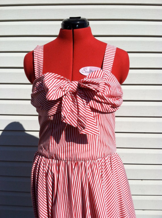 50's party dress/ 50's Rockabilly Candy Striped pa