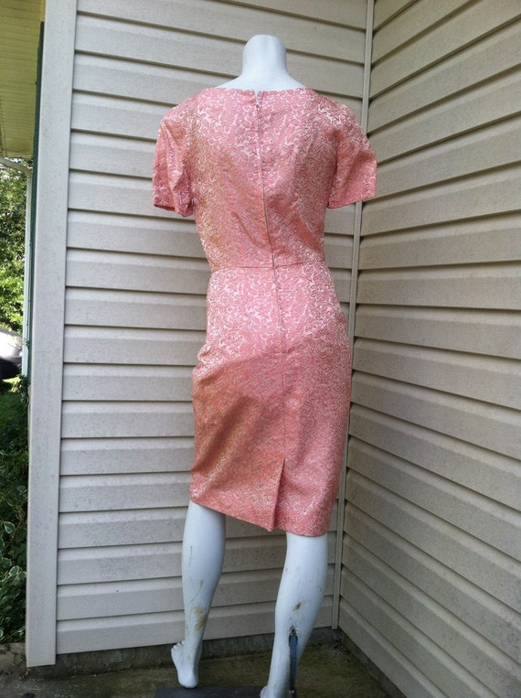 1950's vintage Pink Brocade party dress New Look/… - image 5
