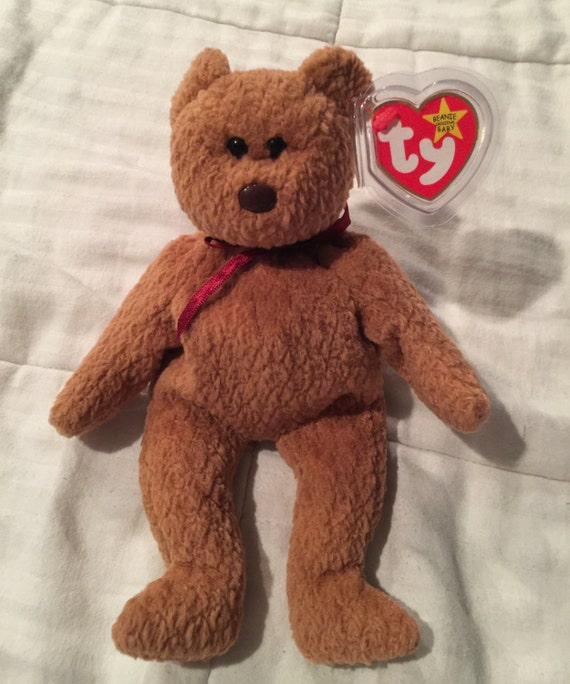 b363de9ecf1 1990 s Vintage Curly TY Beanie Baby with ALL rare