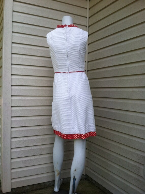 1960's vintage dress red and white mushroom/1960'… - image 5