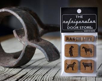 Gift for men. Refrigerator Magnet. Fridge Magnets. Kitchen Magnets. Magnets. Ranch Life.
