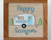 Happy Camper Sign, Wooden Sign