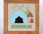 Adventure Wooden Sign