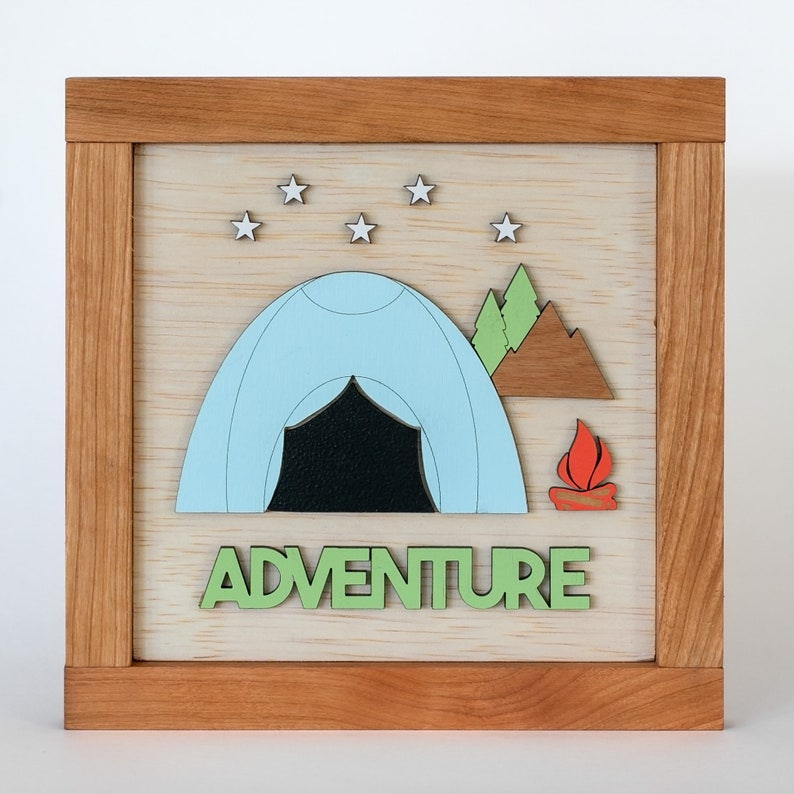 Adventure Wooden Sign image 0